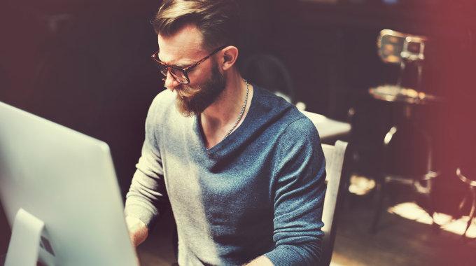 Hardworking startup founder